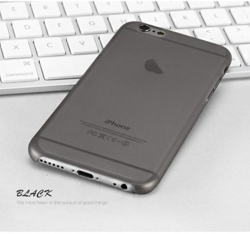 Black Slim Series 0.3mm Ultra Thin iPhone Case