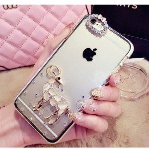 Rhinestone Cute Sheep iPhone Case