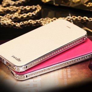 Glamorous-Diamond-Flip-Case-Pink
