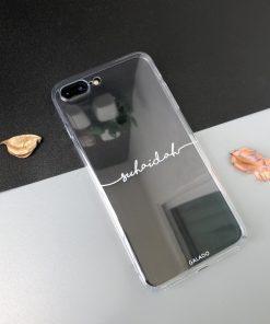 Transparent Custom iPhone Case Name Printing