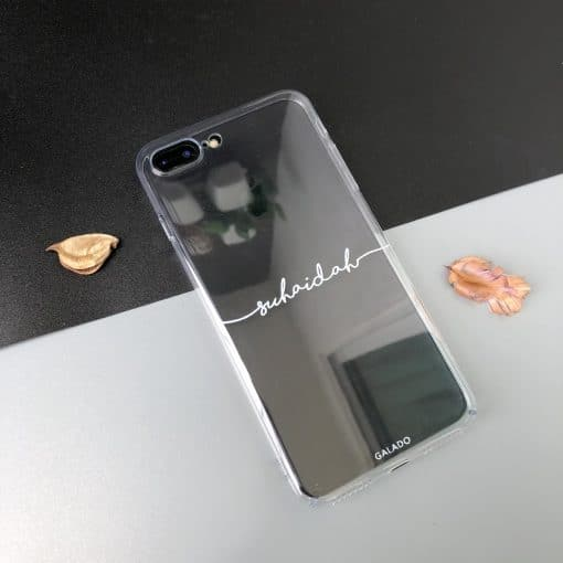 Transparent Custom iPhone Case Name Printing