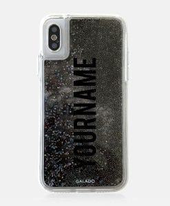 sparkle black glitter custom iphone case