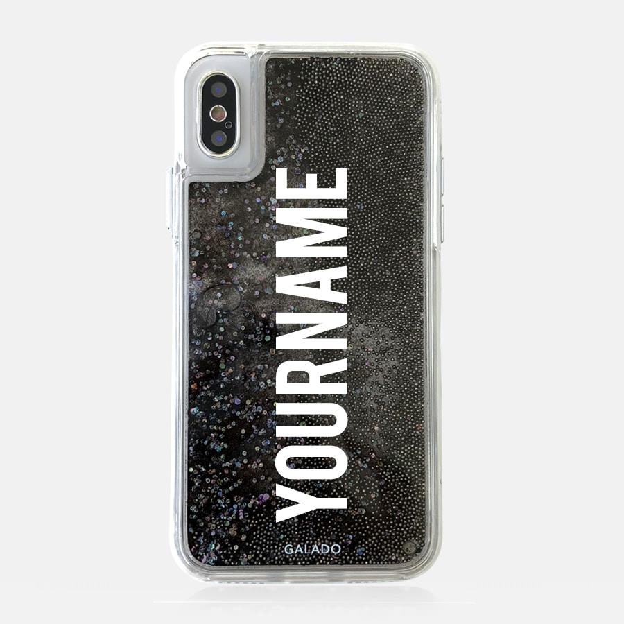 sparkle black grande premium custom iphone cases