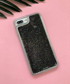 sparkle black glitter custom iphone case