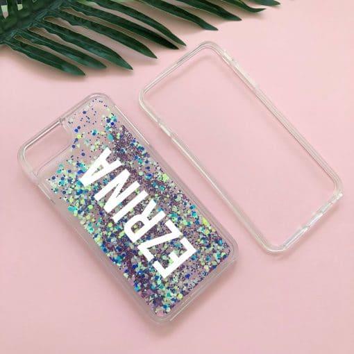 sparkle glow custom iphone case